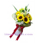 2272  ฺBouquet of SunFlowers and Lilies  start US$74