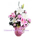 2210   Vase of Artificial Flowers  start US$66