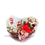 2231 Basket of Mixed Chocolate and Teddy Bear  start US$110
