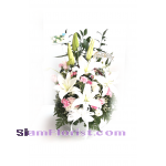 2515 Basket of  Mixed Flowers  click for more detail