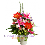 AR2376   Vase of Artificial Flowers