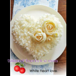 4077  White Heart Love Cake